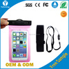 PVC waterproof phone pouch with lanyard