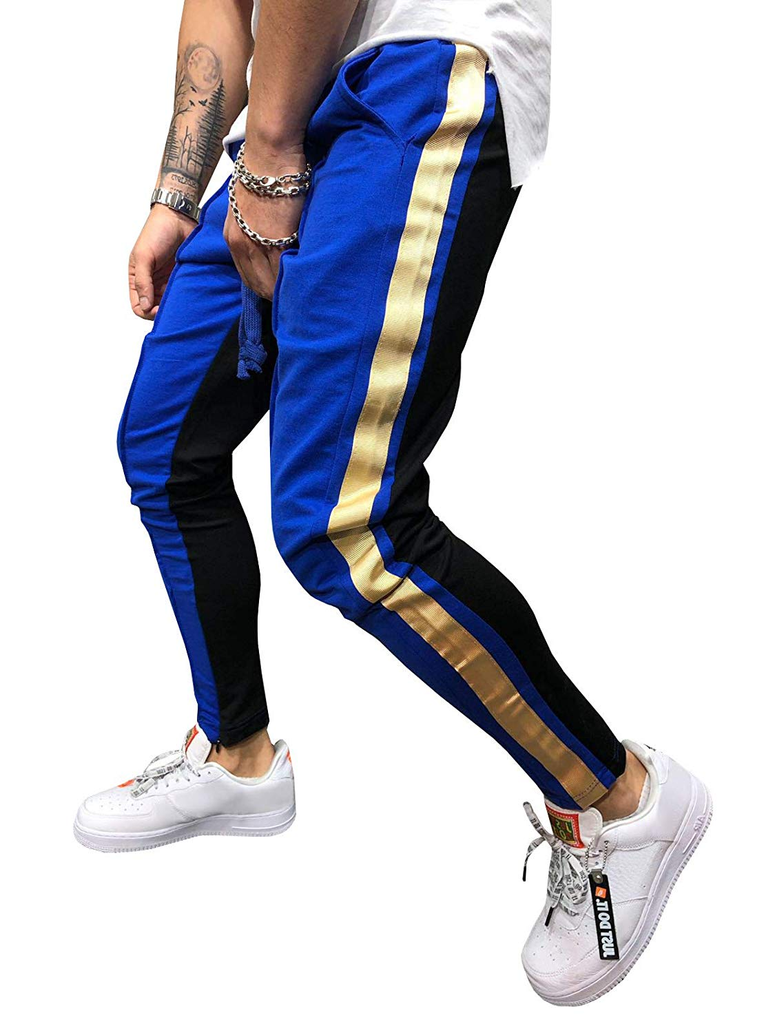 32c4e0e64c3e38 Get Quotations · Coutgo Mens Sport Pants Long Trousers Tracksuit Fitness  Workout Joggers Gym Sweatpants