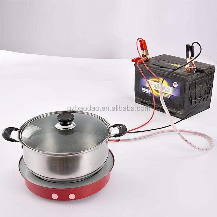 Solar Dc 12v 24v Battery Powered Electric Induction Cooker