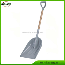 Poly Snow Scoop Shovel with D-Grip Wood Handle