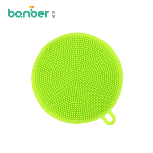 Cheap Silicone Kitchen Scrub Cleaning Clean Brush Silicone Sponge In Dishwasher