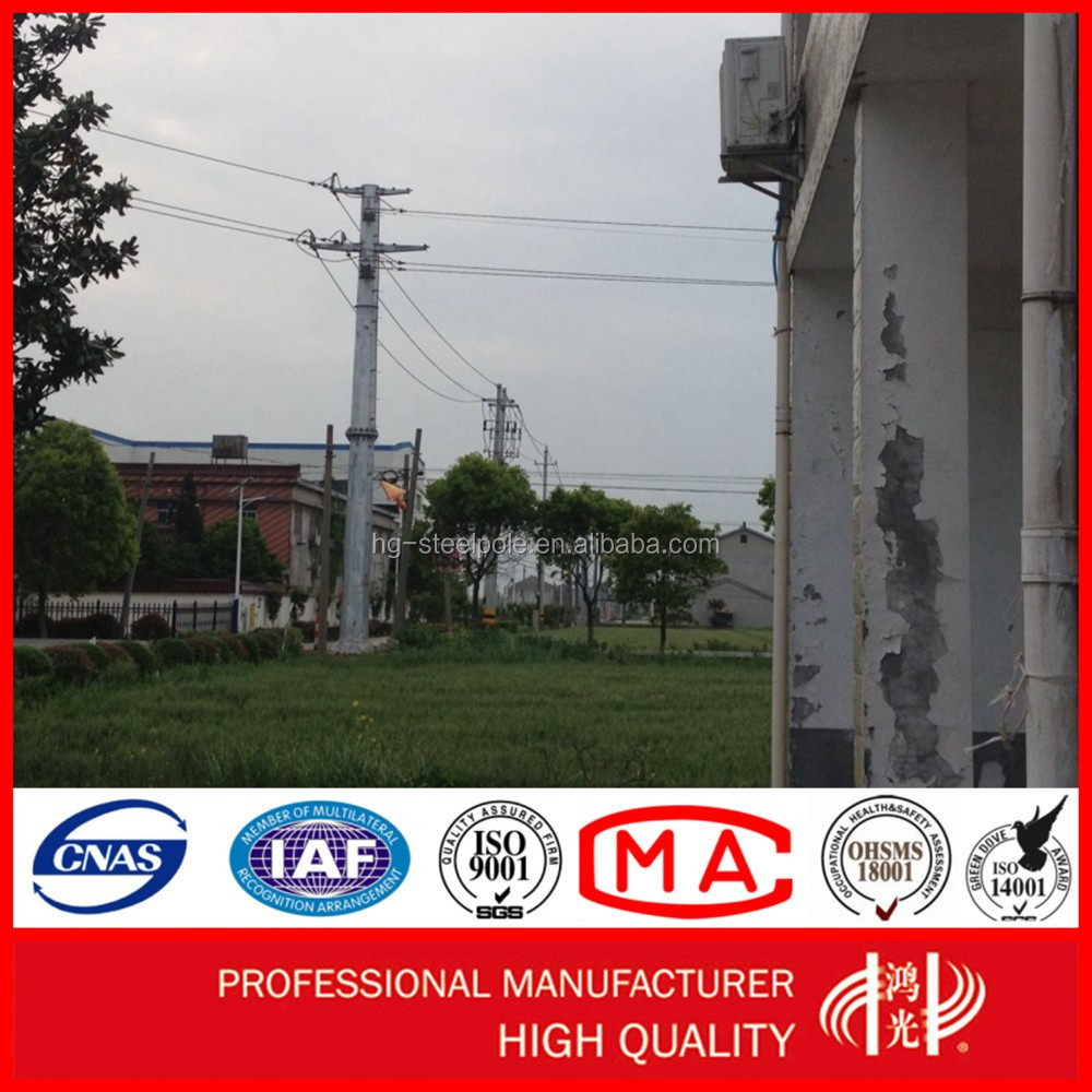 Q235 Hot dip Galvanized Factory Directly Electric Steel Pole