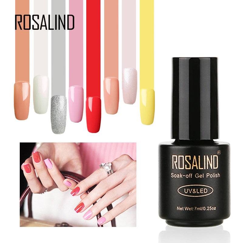 Rosalind professionale del chiodo forniture 7 ml 58 colori polacco uv del gel di arte del chiodo del gel nail polish semi permanente con private etichetta