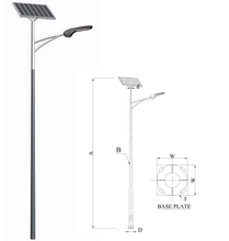 Lamp Post solar power energy gegalvaniseerd Q235 staal 8 m enkele arm of dubbelzijdig staal zonne-straat licht <span class=keywords><strong>pole</strong></span>