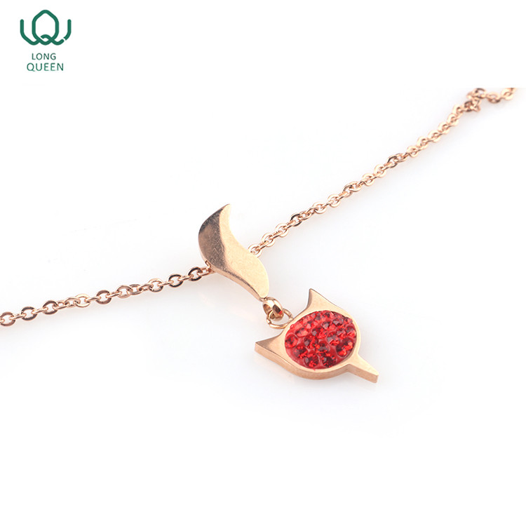 Popular fashion animal charm pendant necklace women