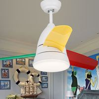 Kids Ceiling Fan With Light Brushed Nickel Reversible 36 Inch Blades 5 Colors