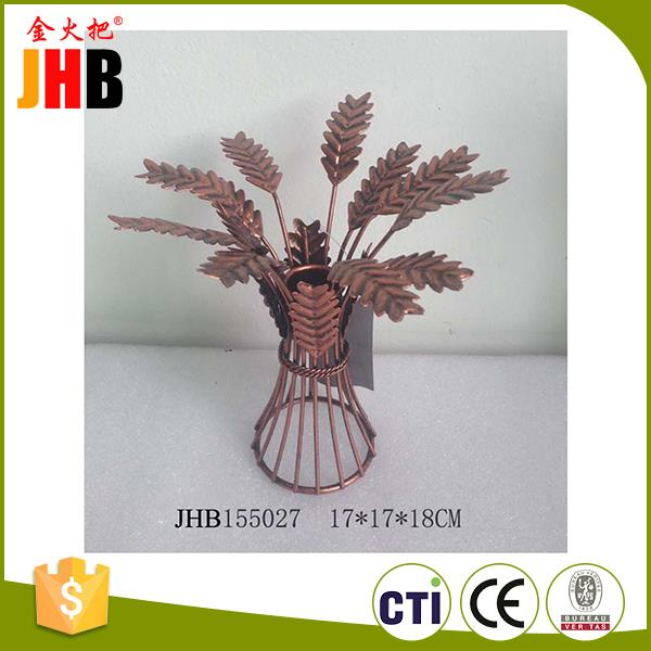 Top quality metal golden holiday indoor decoration holiday gift