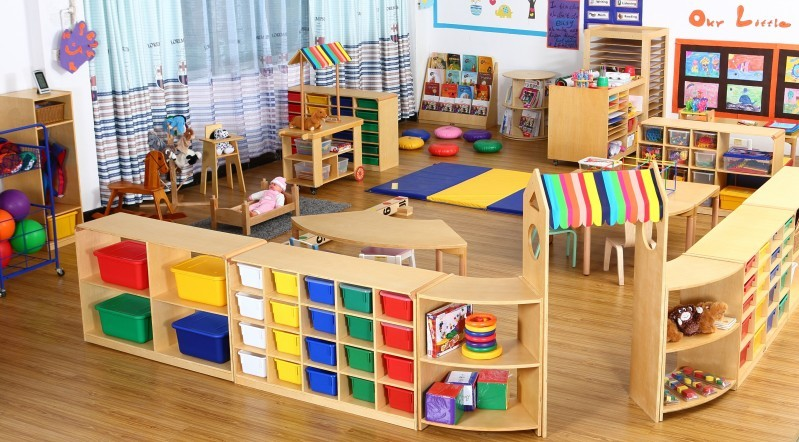 Oem And Odm Design Wooden Kindergarten Art Classroom Furniture Kids Scissors Display Case Buy