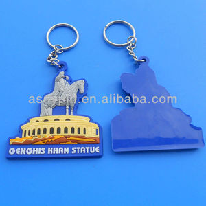 Custom Ancient Colosseum design pvc keyring, 3D Amphitheatrum Flavium horse pvc key chain for Rome travel souvenir