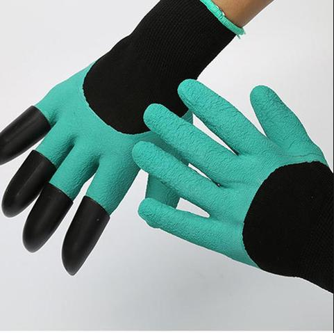 Wholesale free shipping 50pairs/lot As seen on TV Rubber+Polyester builders garden work genie latex <strong>gloves</strong> with 4 Claws