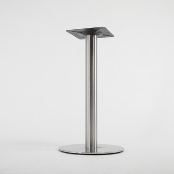 Beau Furniture SS201 28u0026quot; Round Polished Stainless Steel Standard Height  Dining Table Base