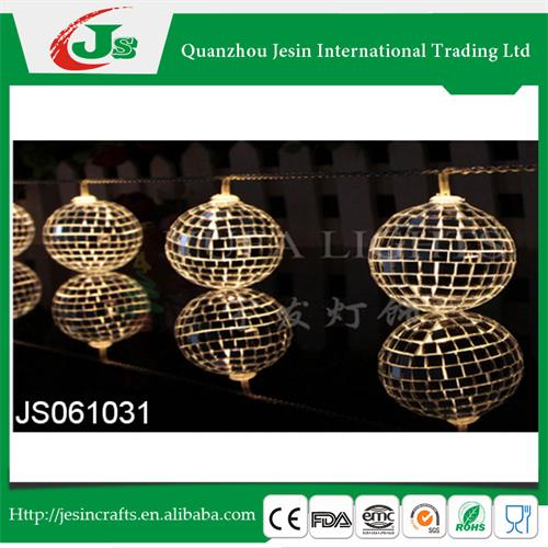 Colorful disco ball led string lights steady on indoor use, for Christmas decoration