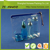 stand up pouch with straw transparent pvc cosmetic bag waterproof pvc pouch