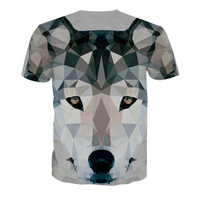 OEM Breathable Full Print Sublimation T Shirts Custom 100% Polyester Sublimation 3D T Shirt