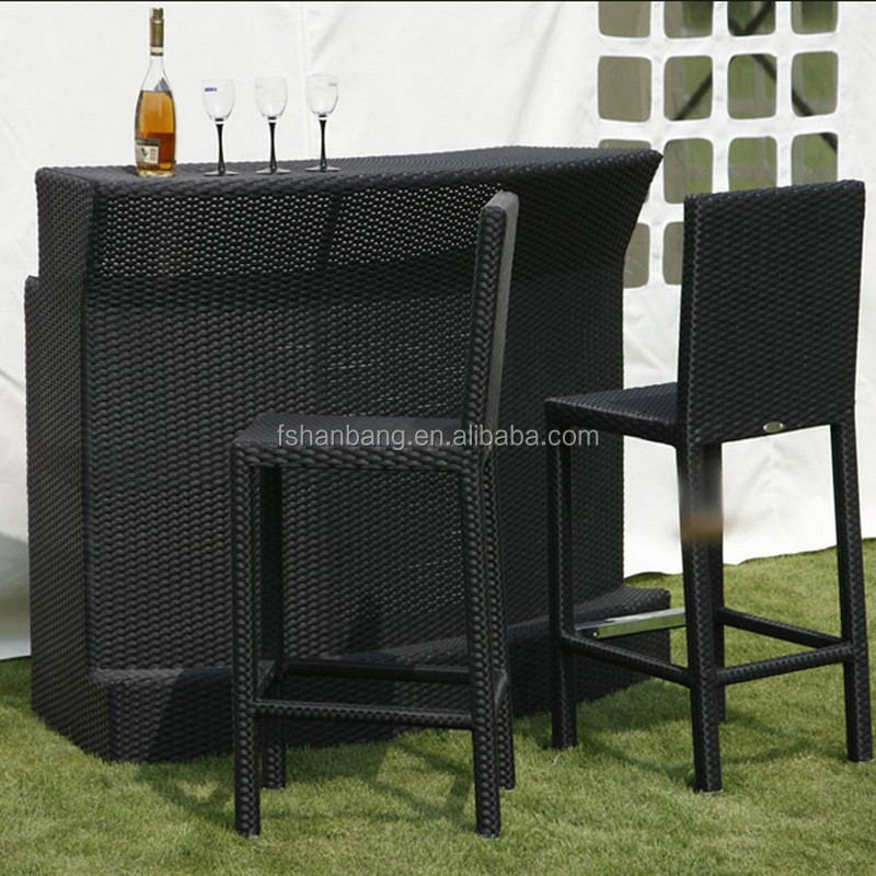 outdoor outside round resin wicker polyrattan bar counter. Black Bedroom Furniture Sets. Home Design Ideas