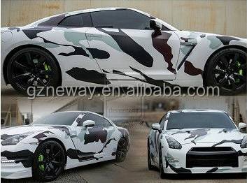 new products 120 micron camouflage vinyl film /3m car wrap vinyl/ car body sticker
