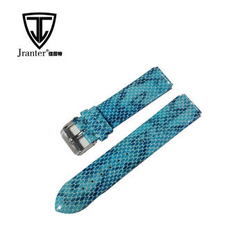 Handmade 20mm Snakeskin Leather Strap Watch Band