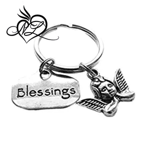 Angel Cherub Blessings Charm Keychain Bag Charm, Angel Gifts, Guardian Angel Charm