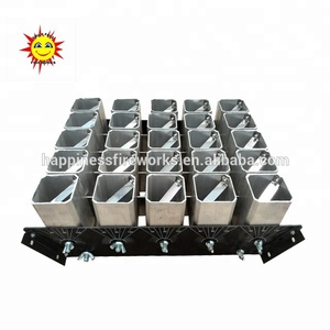 Factory price 2 inch 25 shots single shot happiness fireworks mortars racks shells display racks