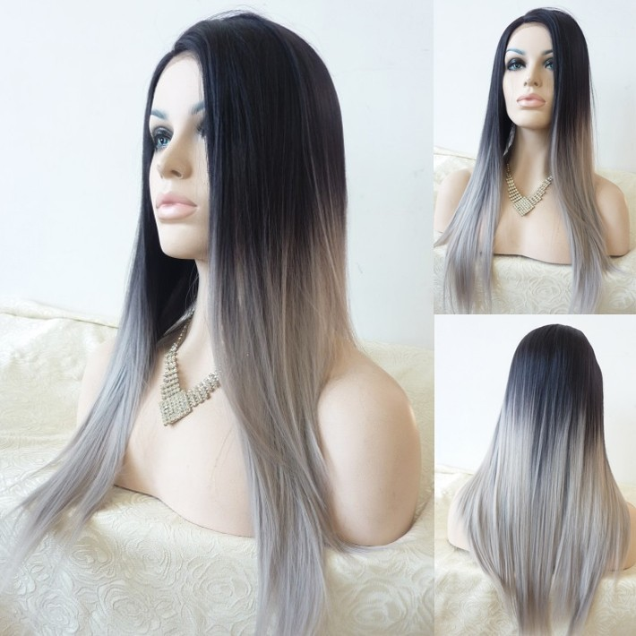 Free Shipping 2014 New Glueless Straight Ombre Tone Color