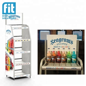 top quality new design spray paint metal retail rack display for bottle and case