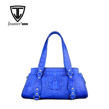 High Quality Elegant Patterns Genuine Crocodile Leather Handbags