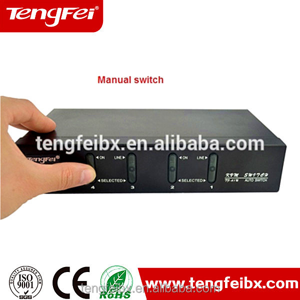 Tengfei 4 Port Combo PS/2 USB KVM switch with OSD