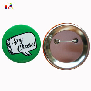 wholesale Custom logo enamel pin blank button badge