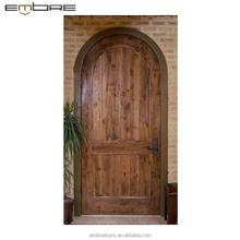 круглый топ Solid двери из тиковой древесины дизайнов межкомнатных дверей цены