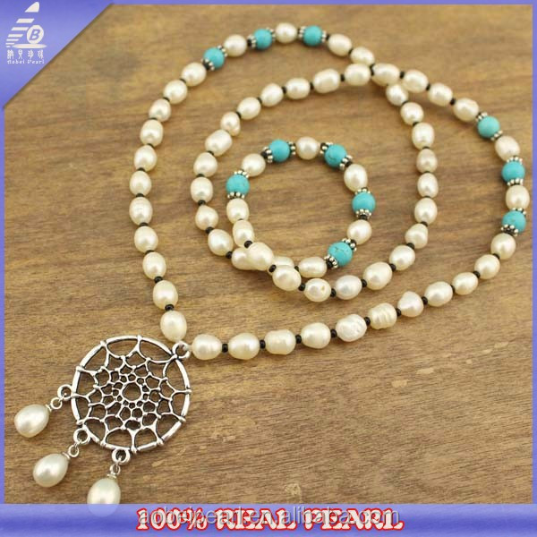 New Arrival Natural 65cm Long Freshwater Oyester Necklace, Lady Pearl Jeweley