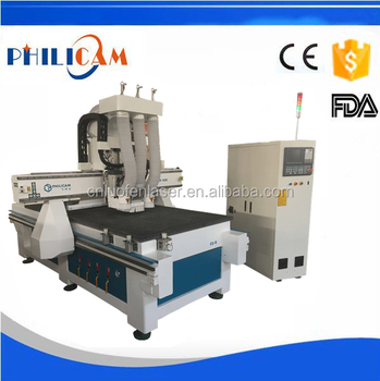 FLDM-1325 atc woodworking cnc router machine / automatic door making machine