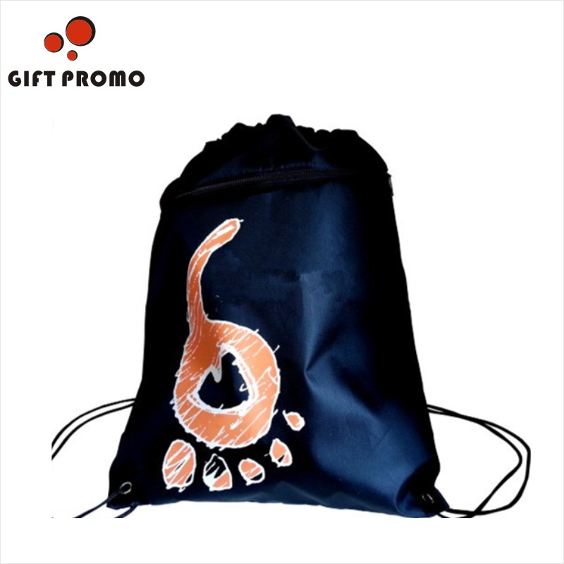 2015 New High Quality Plain Polyester Drawstring Bag