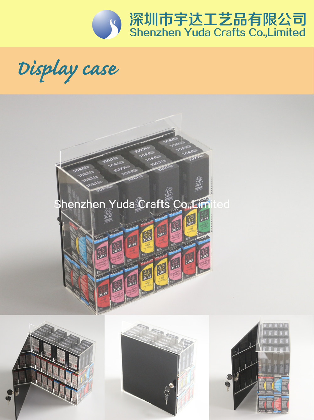 e-liquid display case
