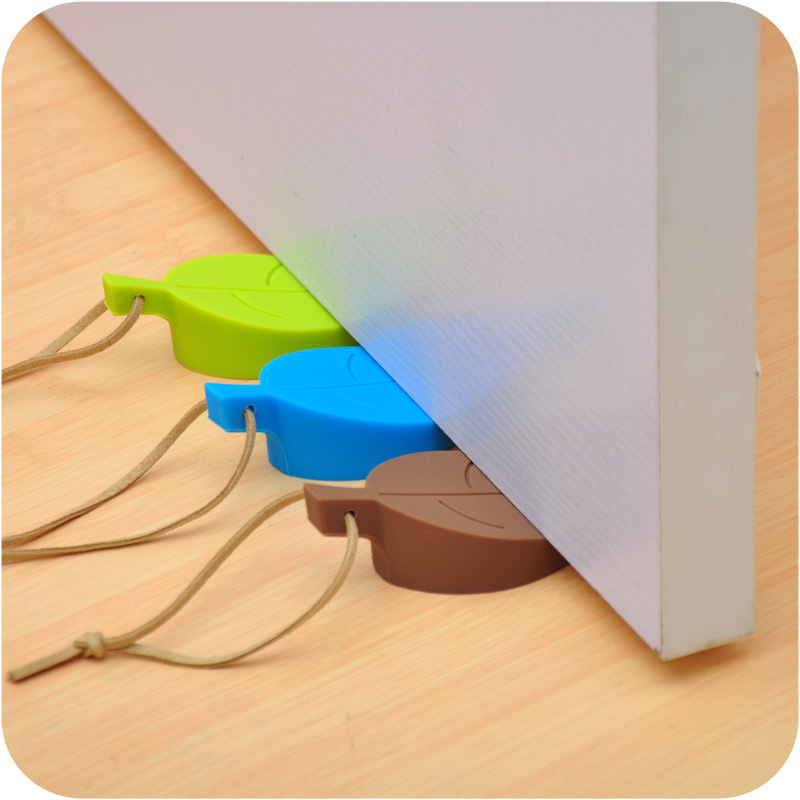 1pc Baby Cover Silicone Door Stopper Leaves Shape Children Kids Jammers Holder Lock Safety Protect Jammer Finger Corner Guards