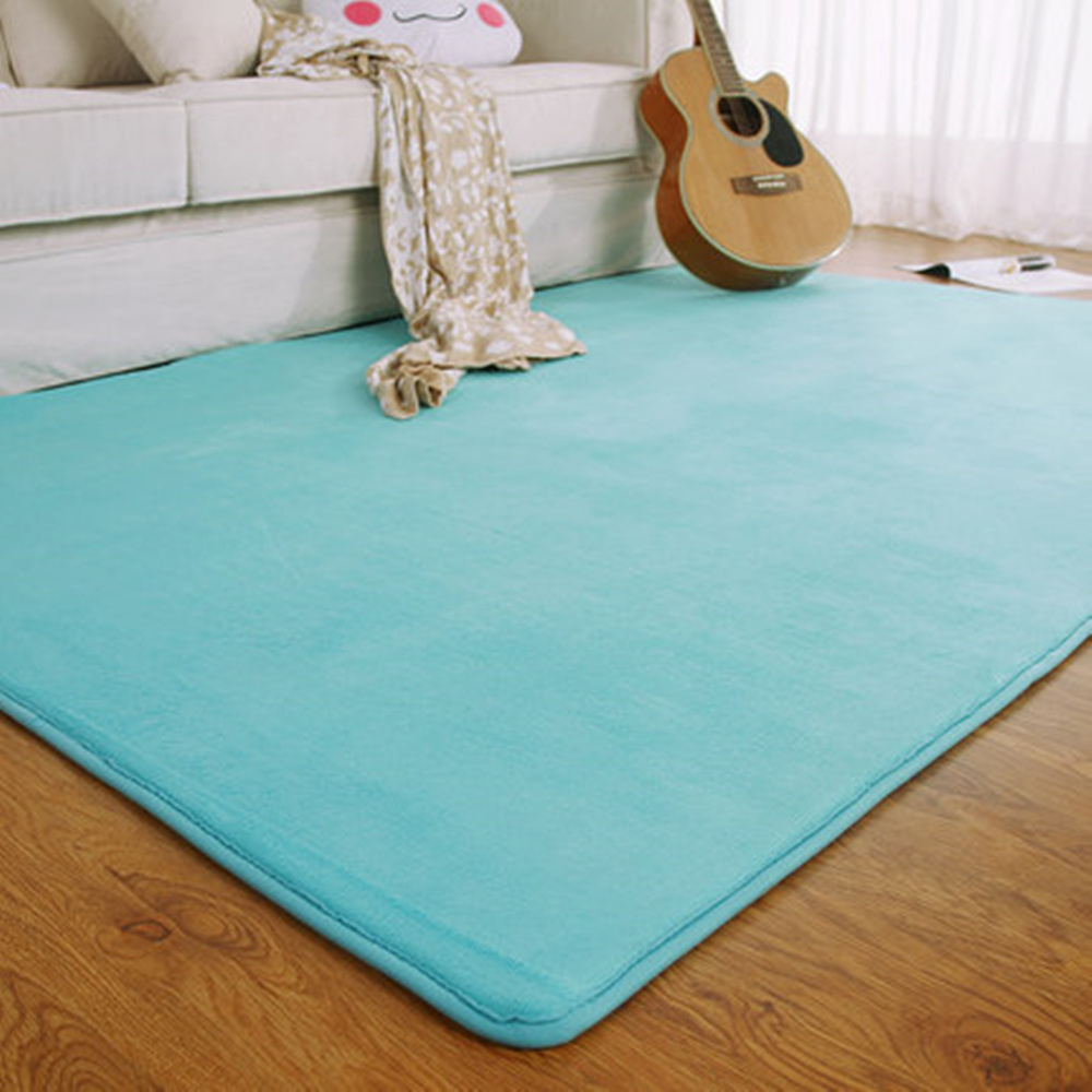 Fashion Memory Foam Solid Mat Area Rug Bedroom Rugs Mats