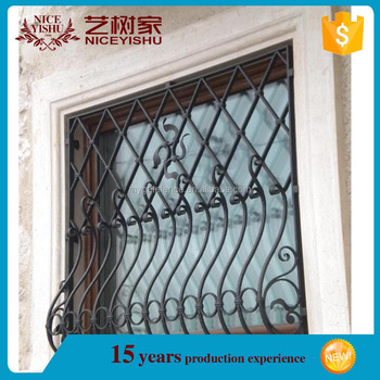 2016 Latest Simple Wrought Iron Window Grills Designs For Safety