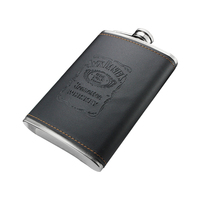China hot promotion Supplier Amazon PU Wrapped Stainless Steel golf hip flask