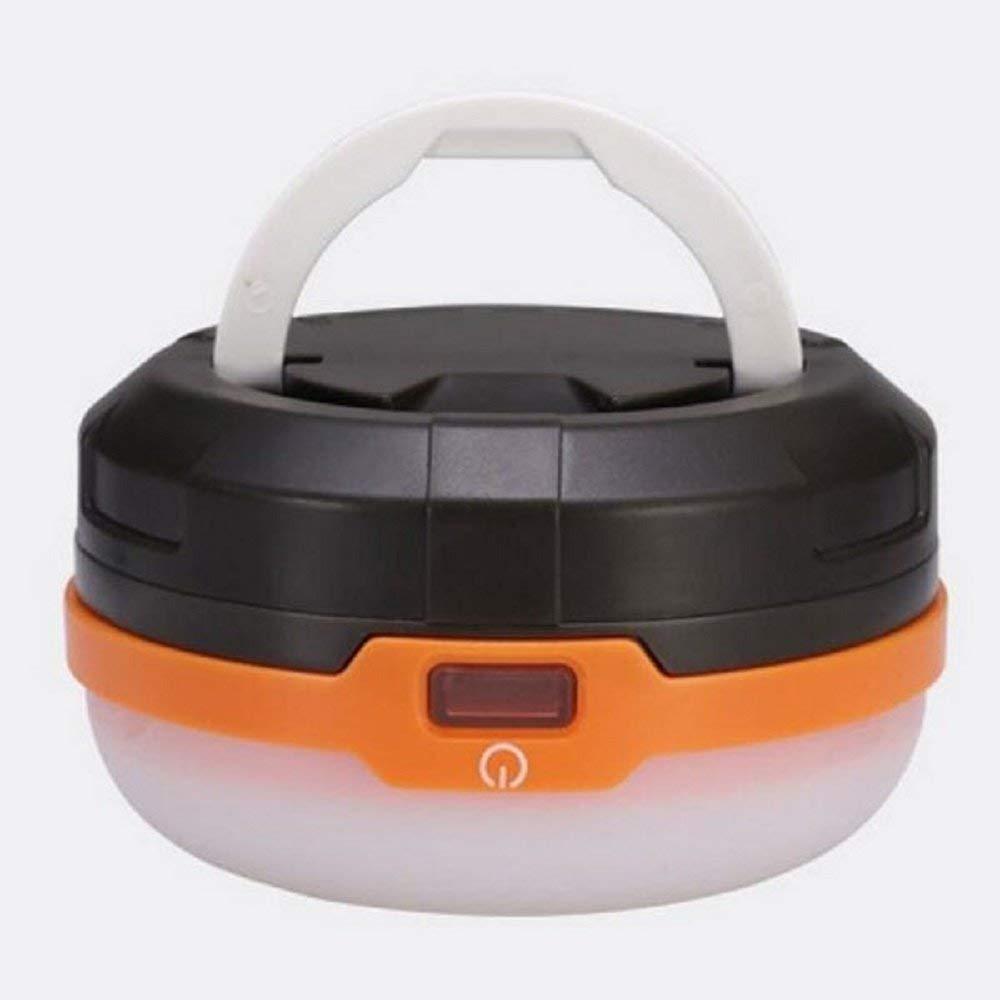Svitlife 3-LED 110LM 1W 4 Modes IPX4 Waterproof Camping Tent Lamp Black & Orange
