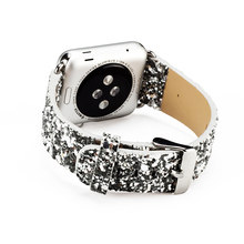 Christmas Glitter Wristwatch Bracelet Strap Belt For Leather Apple Watch Band,For iWatch Band