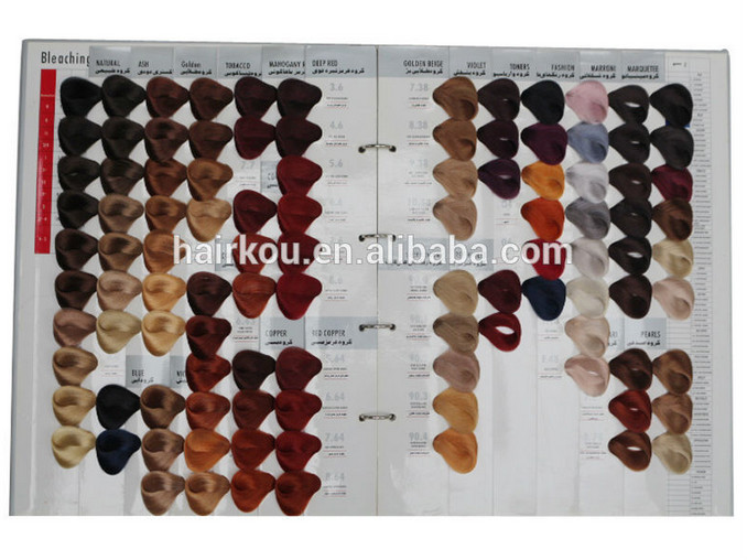 104 Shades Hair Color Swatch Book Color Design Hair Color