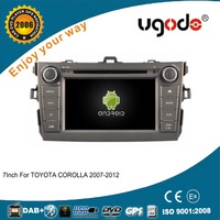 Factory HD android 7 inch 2 din car dvd gps for Toyota Corolla 2007-2012