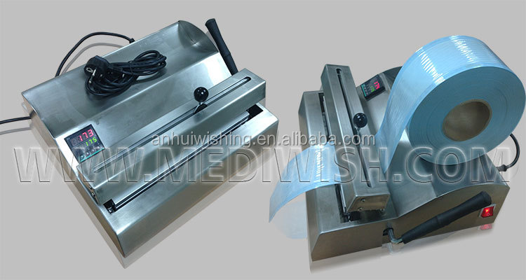 Impulse Sealer machine for medical plastic pouches and cutter