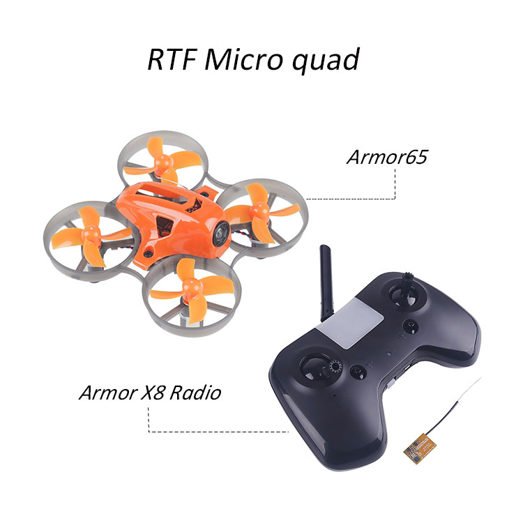 Armor65 RTF micro quadcopter with 7*16 17600kv brushed motor