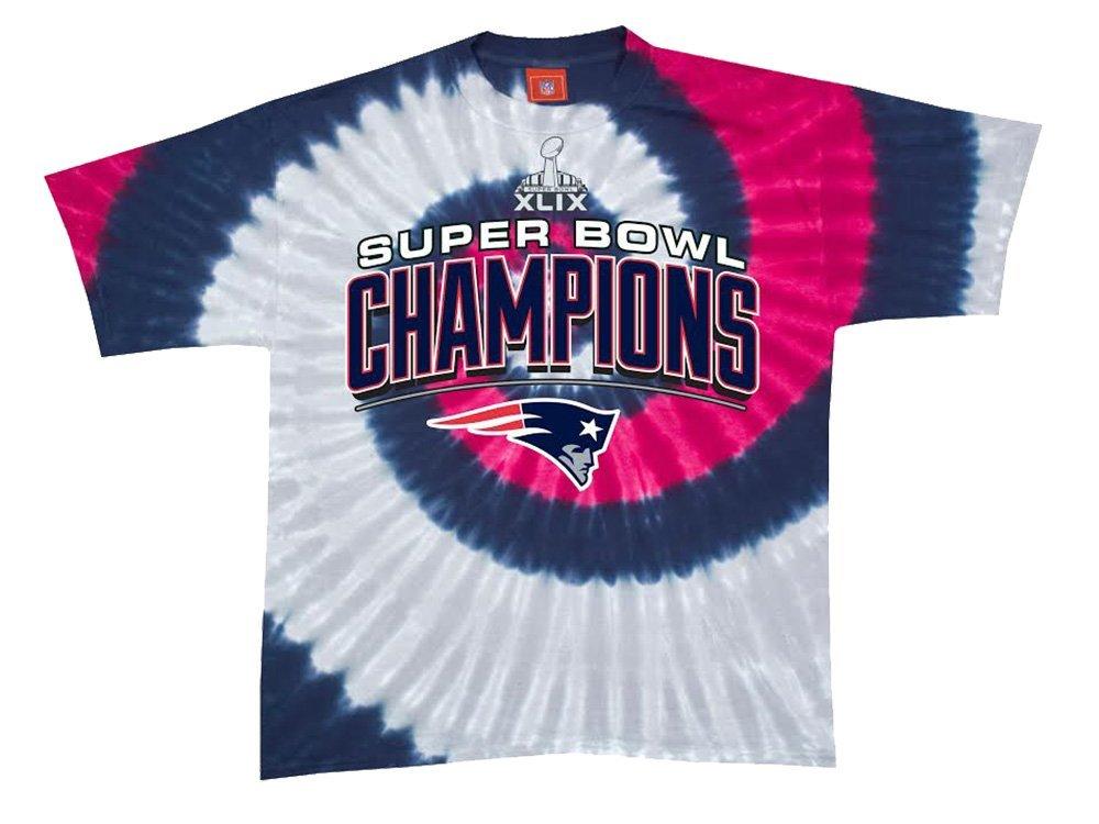 New England Patriots 2015 SUPER BOWL CHAMPIONS Tie Dye Mens T-Shirt XLIX Champs