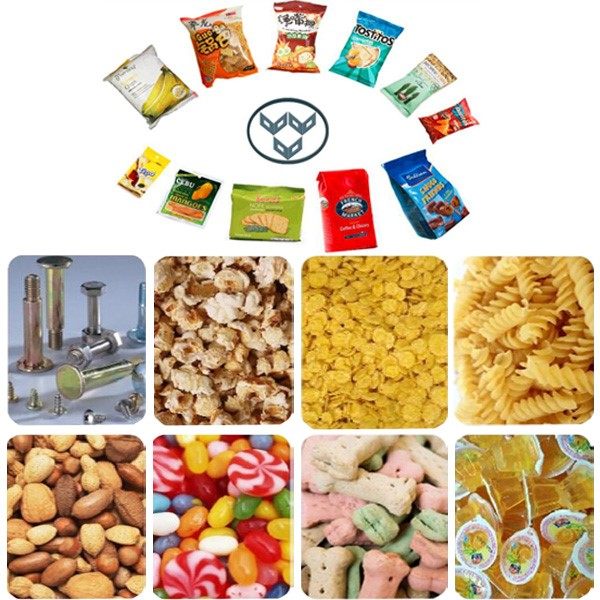 Automatic Model VT720 Vertical Form Fill Seal quad bag packing machine for snacks