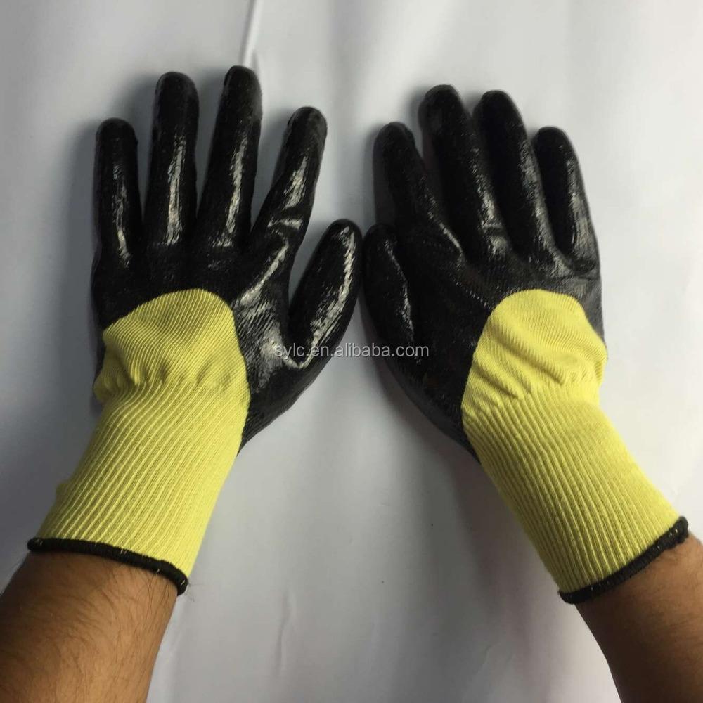 Cut Resistant Aramid Fiber Industry Cut Resistant Glove For Latex ...