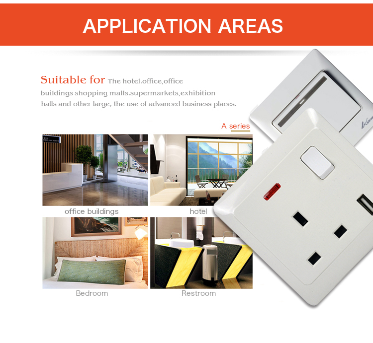 Latest Hot Selling gray color 1 gang light wall switch