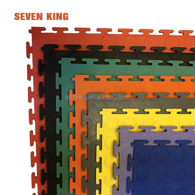 Eco-friendly garage plastic floor mat/pvc interlocking tiles