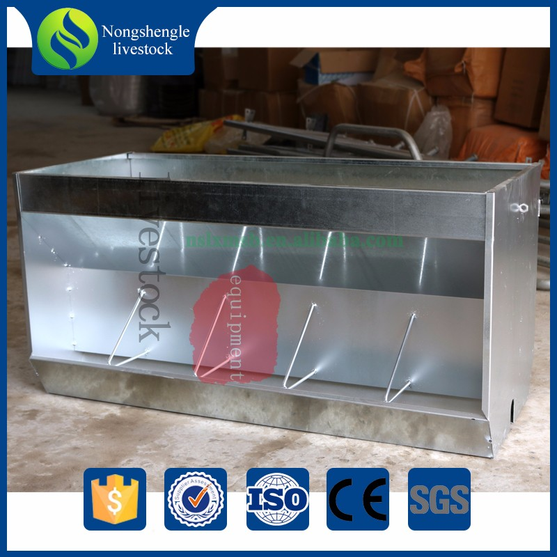 Automatic pig feeding system cast iron trough
