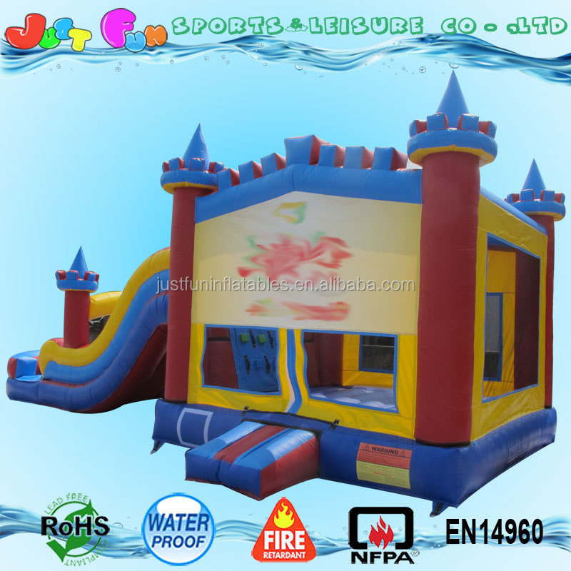 inflatable bounce house with pool,inflatable bounce house with detachable banners